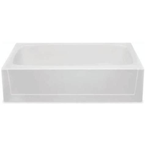 white bathtubs aquatic catalina 5 ft gelcoat left hand drain soaking tub
