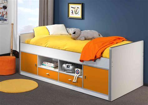 Tagesbett Mit Stauraum by Kojenbett Bonny Liegefl 228 Che 90 X 200 Cm Wei 223 Orange