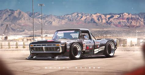 hoonigan truck 1970s ford f series with toyota ae86 n2 wide kit