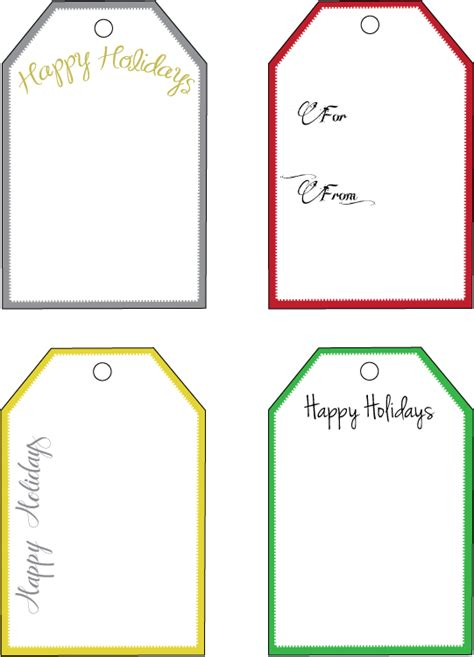 gift tag template free printable 12 gift tag templates images free printable
