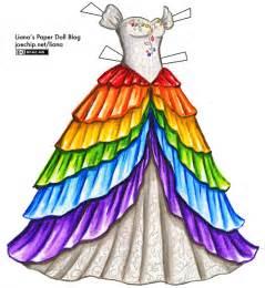 white princess dress with rainbow skirt liana s paper dolls