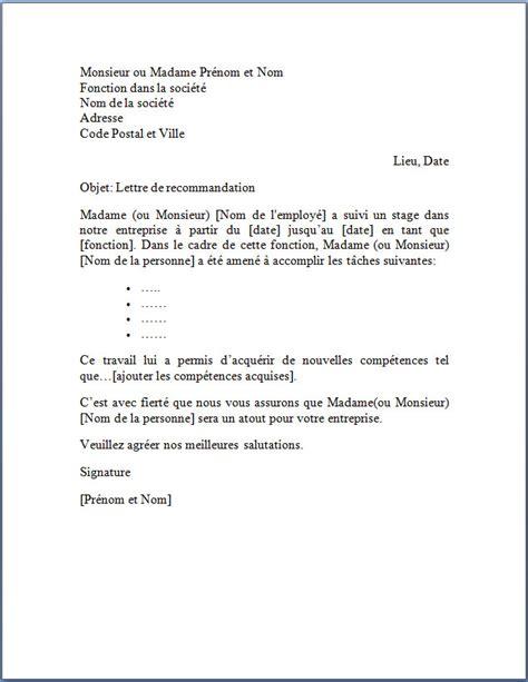 Exemple De Lettre De Recommandation Pour Un Stage Académique Lettre De Recommandation Suite 224 Un Stage 187 Lettre De Recommandation