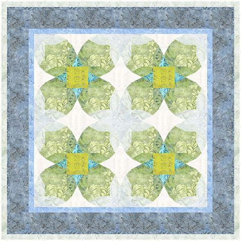 Printed Quilt by Ozarks In Bloom Printed Quilt Pattern