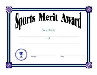 merit award certificate template sports merit award certificate two certificate