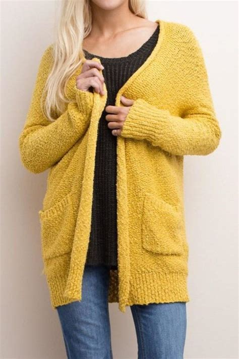 mustard color sweater miss duet mustard knit cardigan from south dakota by blush