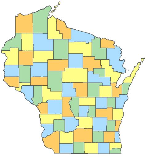 map of wisconsin counties image gallery wi counties