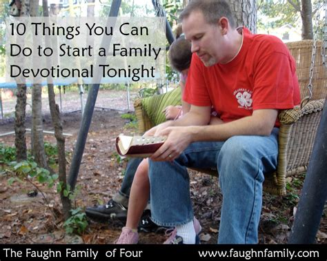 10 Things The 40s Can Still Do by 10 Things You Can Do To Start A Family Devotional Tonight