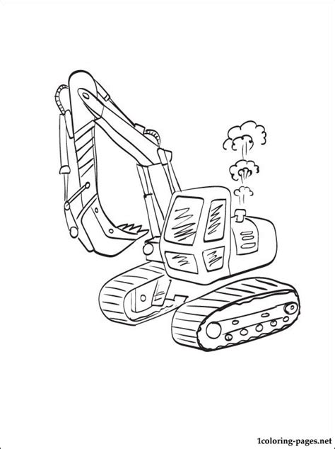 coloring pages of excavators coloring page excavator coloring pages