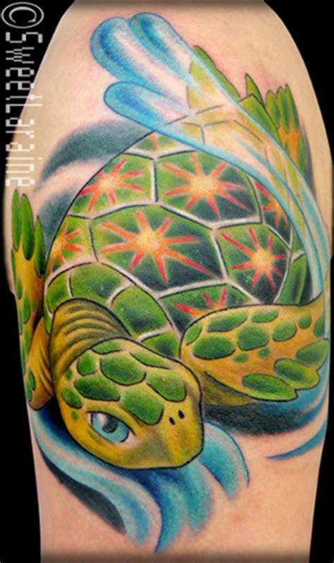 new school turtle tattoo sea turtle by sweet laraine tattoo inspiration worlds