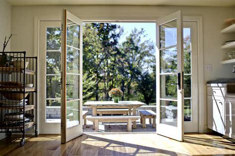 Patio Doors With Windows That Open Kitchen Doors Open Traditional Patio