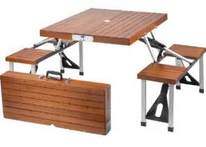 Folding Wooden Picnic Table Tailgate Wooden Picnic Table Folds Into A Suitcase