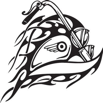 tribal motorcycle tattoos tribal biker tattoos pictures to pin on pinsdaddy