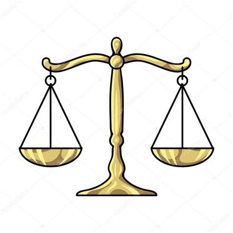 imagenes justicia animadas escalas de justicia icono en estilo de dibujos animados