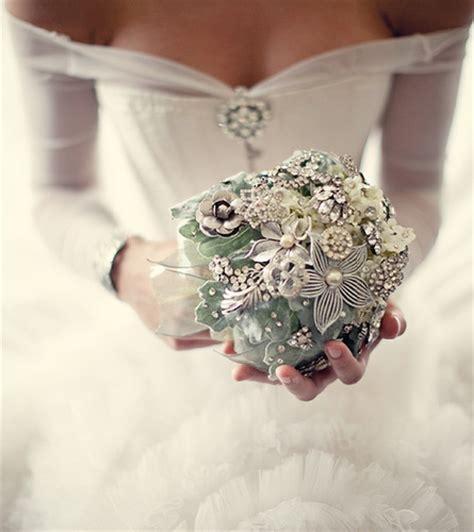 heirloom jewelry wedding bouquets by noaki like flowers - Wedding Bouquet Jewellery