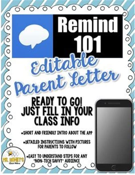 Parent Letter Remind Best 25 Remind 101 Ideas On Curriculum Parent And Parent Open House