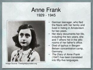 anne frank biography questions why did anne franks s father distributed her diary to