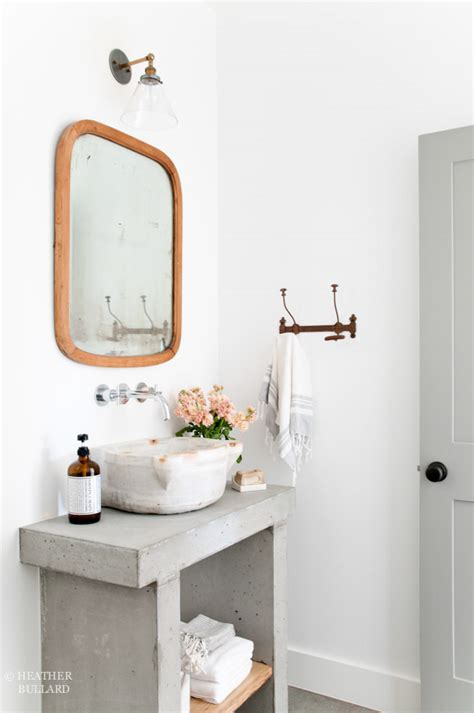 concrete bathroom vanity diy concrete vanity heather bullard