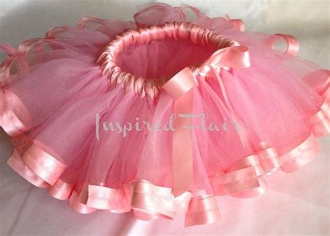 Skirt Tutu Ribbon birthday princess tutu satin ribbon edged pink tutu skirt pink tutu baby tutu