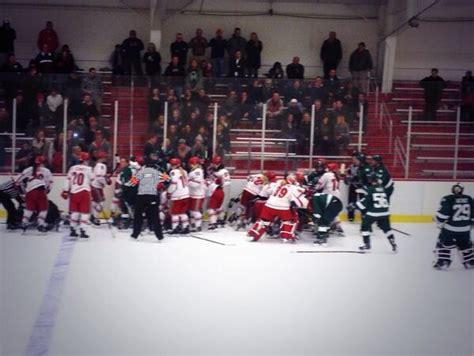 hockey bench clearing brawl video osu and bemidji st women s hockey brawl bso