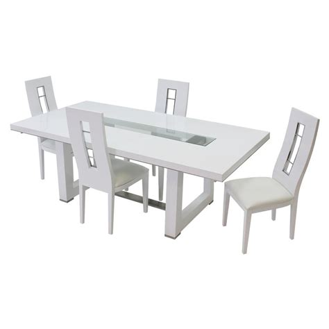 Novo Dining Room Set Novo White 5 Formal Dining Set El Dorado Furniture