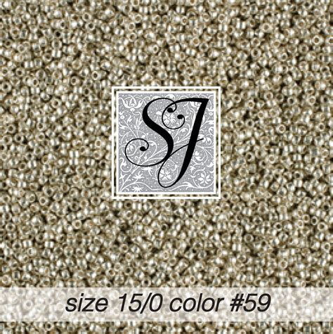 size 15 seed size 15 0 seed color 59 silver 1859 sj designs