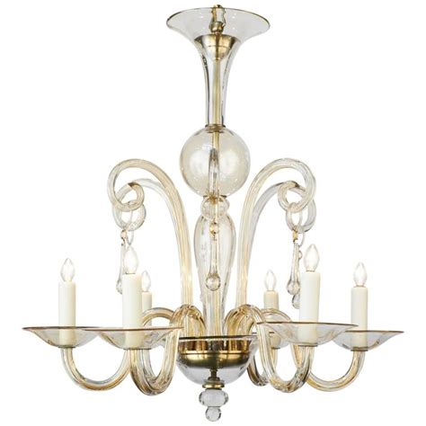 Vintage Murano Chandelier Vintage Murano Handblown Glass Chandelier For Sale At 1stdibs