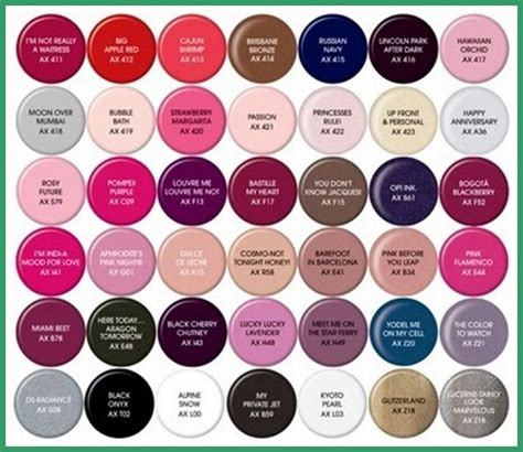 opi nail color chart gel nail color chart nail ideas 2015 nail