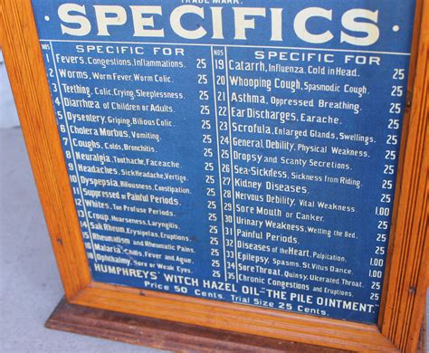 Bargain John's Antiques   Humphreys' Specifics Apothecary