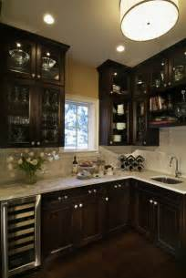 Kitchens With Dark Wood Cabinets Dark Wood Kitchen Cabinets Decorating Tips Whole Home