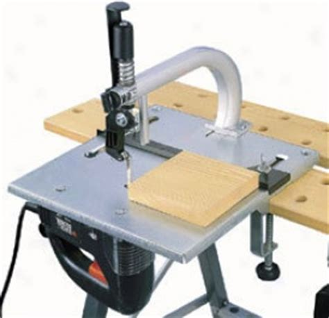 tools jigsaw table with jig and fret saw blade guide