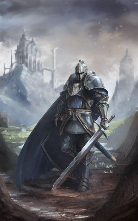 fantasy knight commission by babaganoosh99 on deviantart