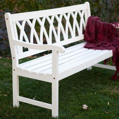 white wooden garden bench pinterest the world s catalog of ideas