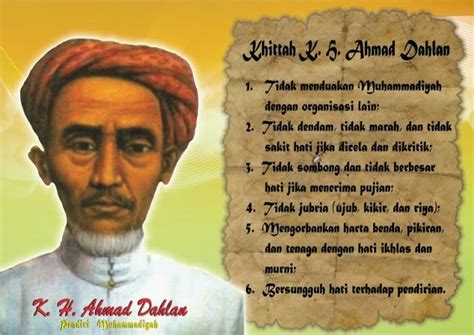 biography of kh ahmad dahlan kh ahmad dahlan melelang bajunya untuk menggaji guru