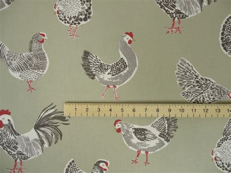 rooster upholstery fabric clarke clarke rooster sage cotton curtain fabric
