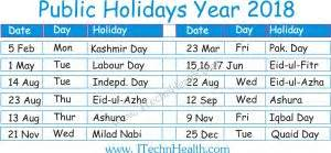 Calendar 2018 Pakistan With Holidays Calendar 2018 And Islamic Calendar 2018 1439