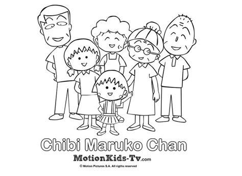 imagenes de caricaturas japonesas dibujito de la familia de maruko dibujos para colorear