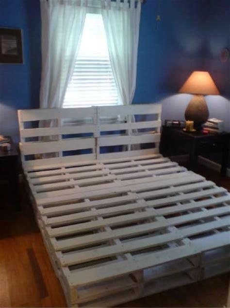 queen size pallet bed plans queen size pallet bed frame diy furniture pinterest