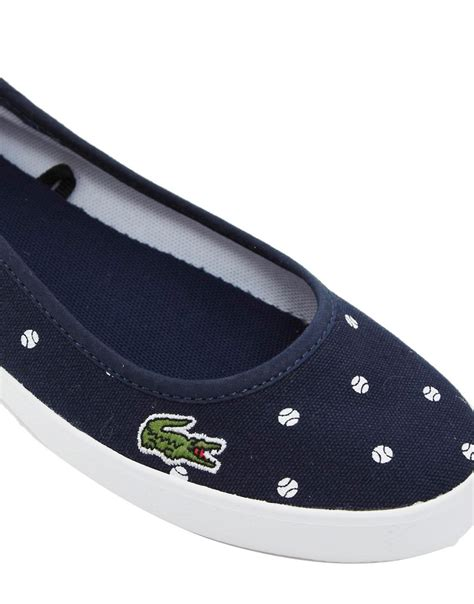 lacoste flat shoes lacoste lacoste marthe ballerina blue spot flat