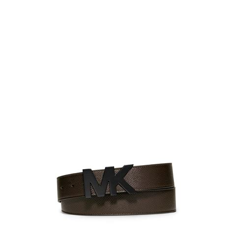 michael kors leather belt in brown for lyst