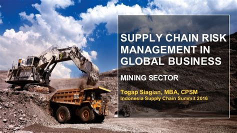 Mba In Mining Sector by Supply Chain Risk Management