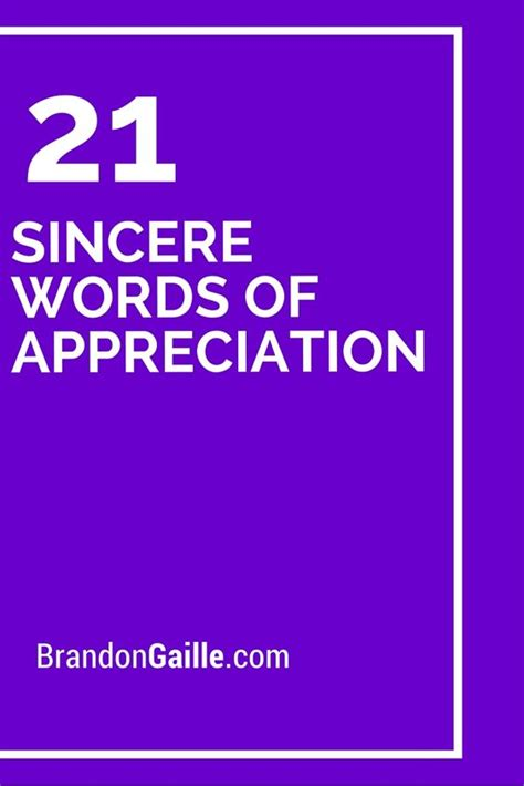 Brief Words Of Appreciation Small Words Of Appreciation Pictures To Pin On Pinsdaddy