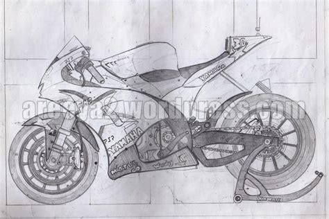 sketsa moto2 n yamaha m2 jaman sekolah cxrider