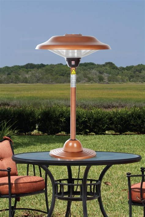 Firesense Table Top Patio Heater Sense Halogen Copper Table Top Patio Heaters 60659