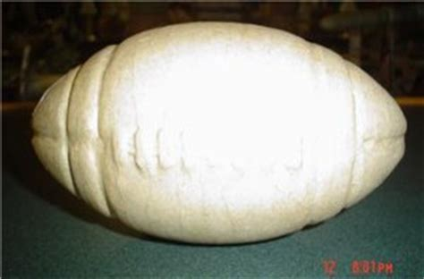How To Make A Paper Mache Football - paper mache football ready to paint