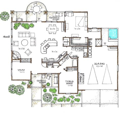 mediterranean efficient use of space in this green house plan