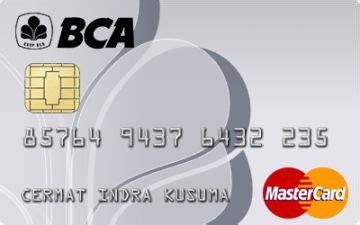 bca mastercard kartu kredit bca silver mastercard cermati