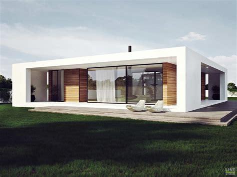 Patio House Designs проект одноэтажного дома с плоской крышей в стиле минимализм