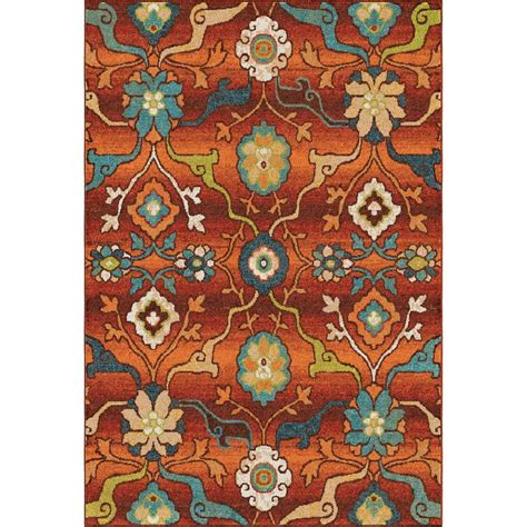 Bright Floral Rugs by Orian Rugs Punjab Floral Bright Colors 7 Ft 10 In X