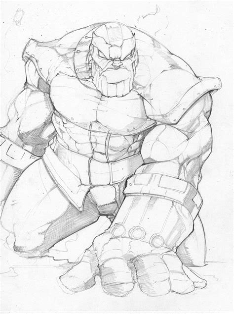 thanos pencil sketch by donnygreen on deviantart