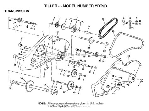 craftsman tiller parts diagram craftsman tiller transmission embly diagram craftsman
